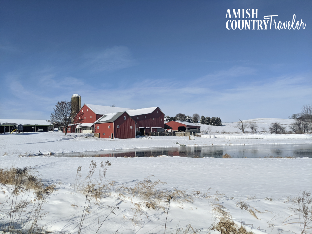 Tips for planning a trip to Amish Country, Ohio.  How to plan a trip to Holmes County to see the world's largest Amish settlement. This barn pictured was the first Amish settlement in Holmes County.
