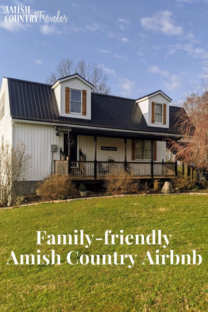 Family-friendly Amish Country Airbnb - best cabin in Holmes County, Ohio for families.  Places to stay in Amish Country, Ohio.  Places to stay in Ohio.