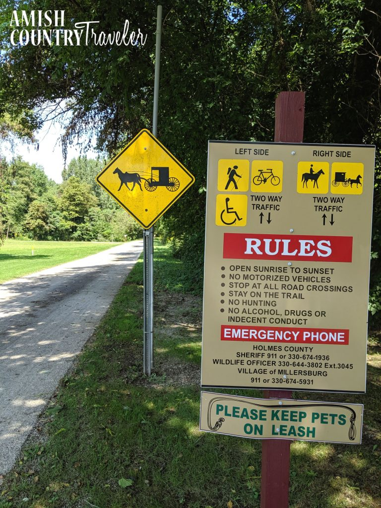 Things to do in Amish, Country, Ohio with kids- things to do in Millersburg, Ohio- Holmes County Rails to Trail