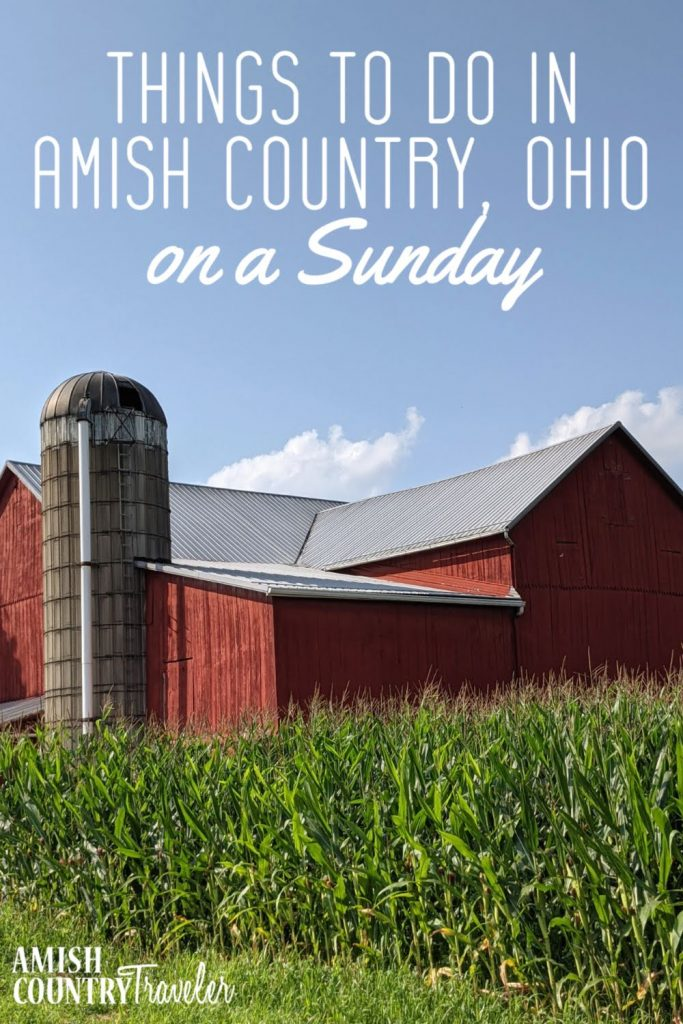 Things to do in Amish Country on a Sunday!  Because of the religious nature of the area, many attractions in Ohio's Amish Country are closed on Sunday.  But don't worry! There is still plenty to keep one busy.  Here's my list of things to do on a Sunday.